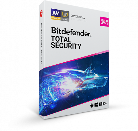 Bitdefender Total Security, 5 Devices, 1 Year